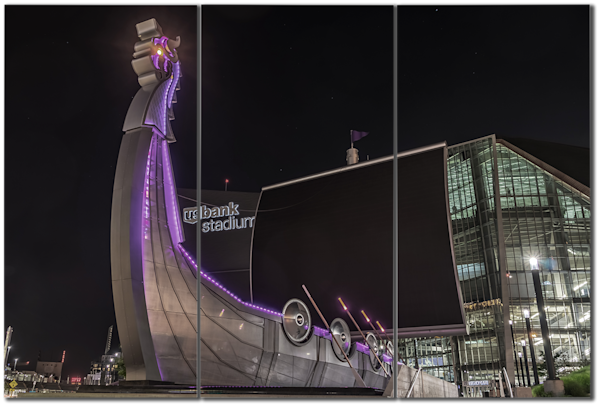 Minnesota Vikings Ship - City Panel Art | William Drew Photography