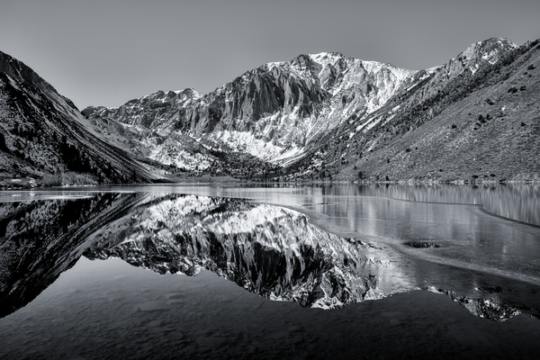 Colorless Convict Lake Reflections  I Eastern Sierra California Landscape Photography I David N. Braun