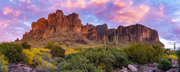 Art Print Superstition Mountains Lost Dutchman State Park Desert Wilderness