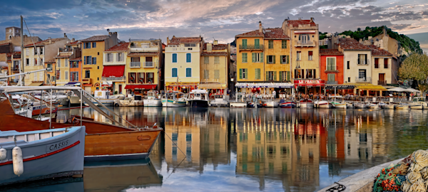 Art Print Cassis Provence France Fishing Village