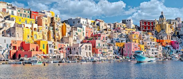 Art Print Procida Bay of Naples Italy Forgotten Island