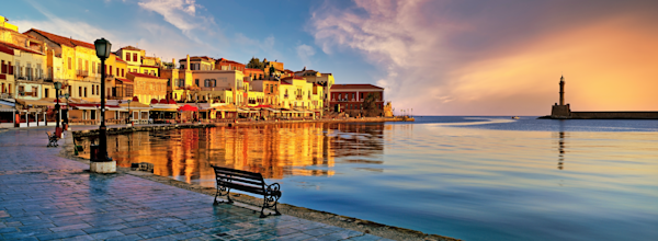 Art Print Chania Crete Greece Venetian Harbor