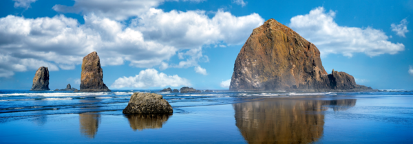Art Print Cannon Beach Oregon Haystack Rock