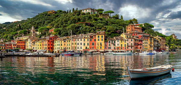 Art Print Portofino Italy Heavenly Solitude