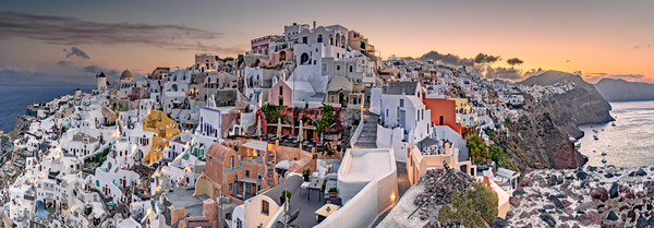 Art Print Oia Santorini Greece Ruined Oia Castle