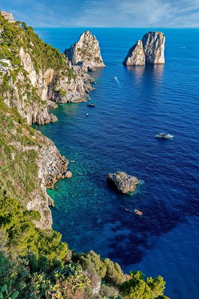 Art Print Capri Italy Faraglioni Overlook