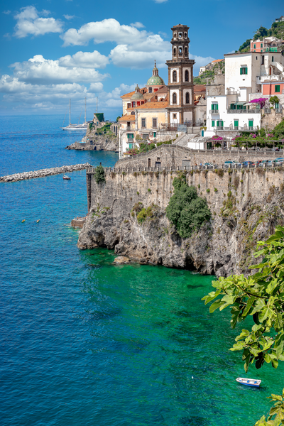 Art Print Atrani Amalfi Coast Italy Little Village