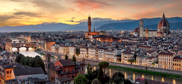 Art Print Florence Italy Panoramic Piazza Michelangelo