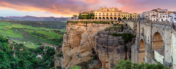Art Print Panoramic Ronda Spain New Bridge