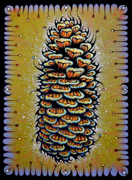 Sugar Pine Cone Print