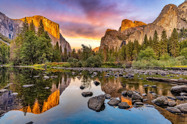 Art Print Yosemite Valley California Valley View