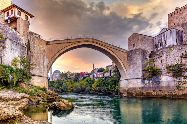 Art Print Mostar Bosnia and Herzegovina Stari Most