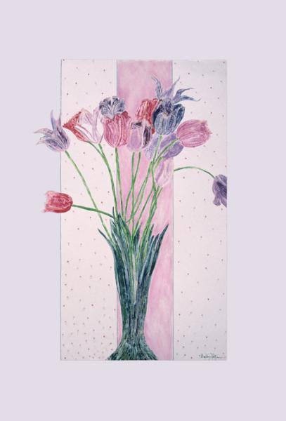 Crispa - Monotype Tulip Painting