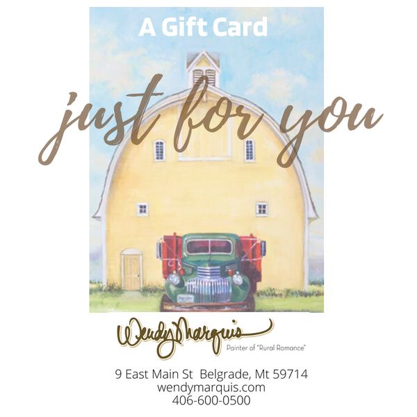$50 Gift Card  | Wendy Marquis Art
