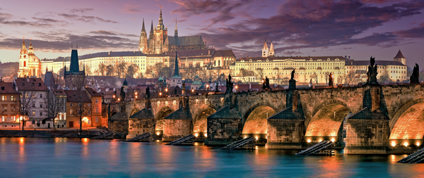 Art Print Charles Bridge Prague Czech Republic Statues of Saints