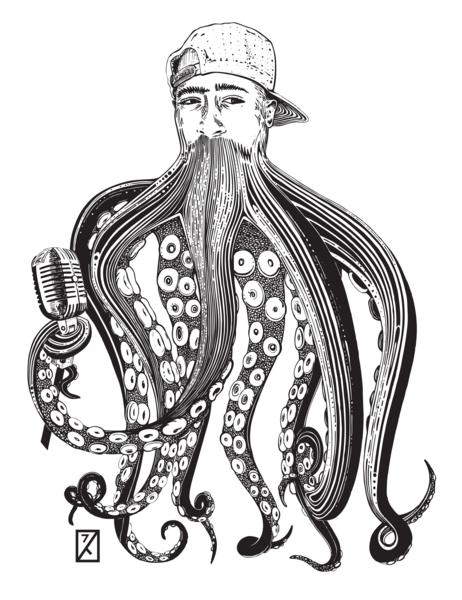 Tupactopus Print