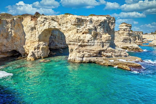 Art Print Torre Sant' Andrea Puglia Italy Calcareous Rock