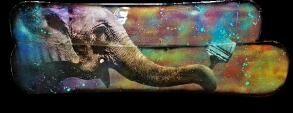 Elephant Mixed Media Original