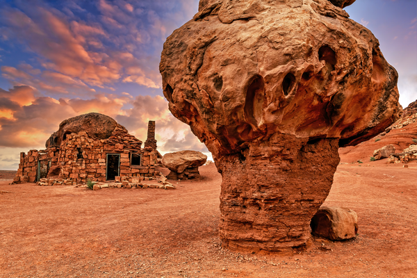 Art Print Cliff Dwellers Arizona Stone House