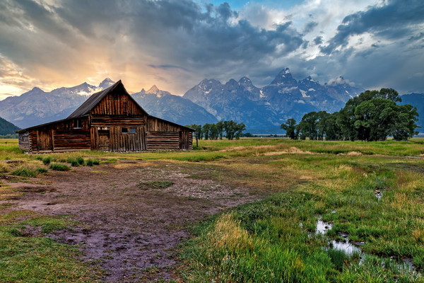 Art Print Grand Teton Wyoming Mormon Row