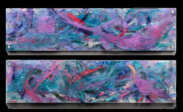 """March Forth"" Original Multi Panel Plexi Acrylic  Art | Daniel Kanow Fine Art"