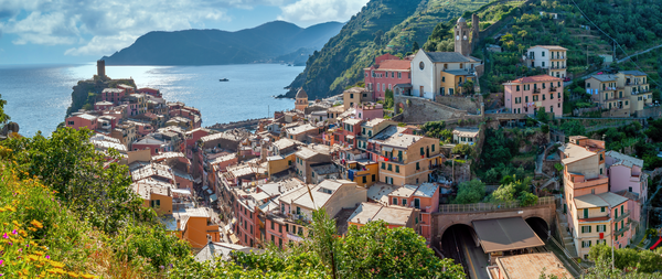 Art Print Vernazza Cinque Terre Italy Coastal Train Station