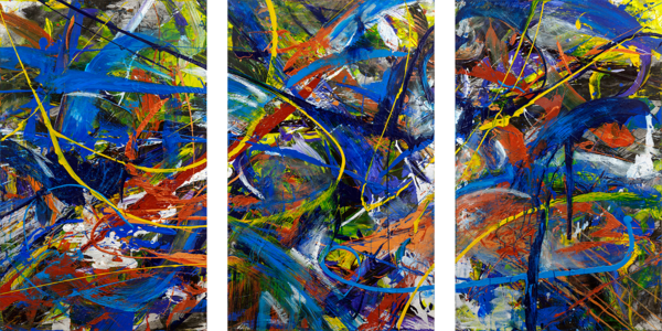 """Phases"" Original Multi Panel Art | Daniel Kanow Fine Art"