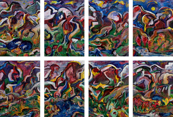 """Weminuche Series"" Original Multi Panel Art | Daniel Kanow Fine Art"