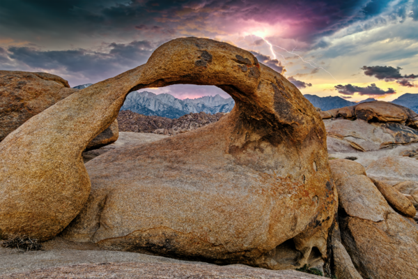 Art Print Lone Pine California Alabama Hills