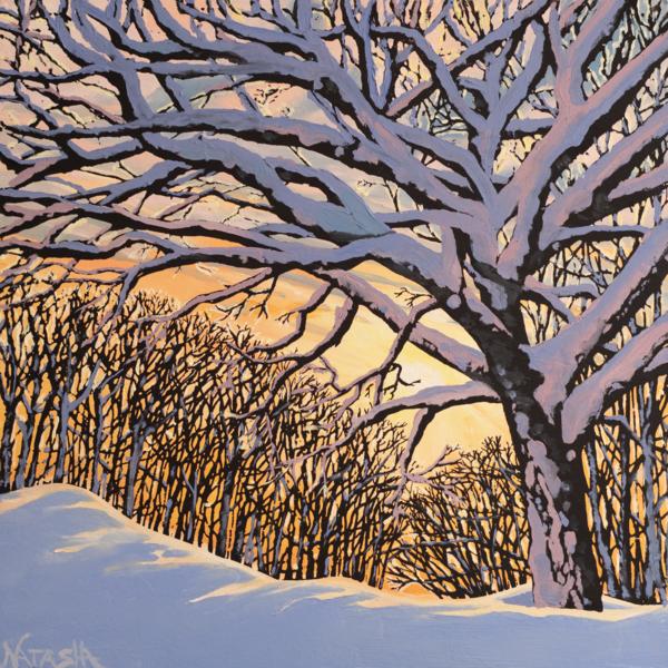 Golden Birch I Art for Sale