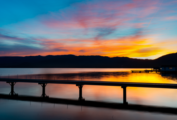 First Light Across the Pier I Lake Tahoe Landscape Photography I David N. Braun | South Lake Tahoe