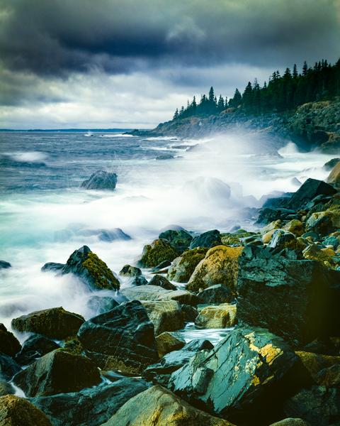 Fine Art Photography Print | Acadia Coast, Pounding Surf by fine art photographer Robert Vielee