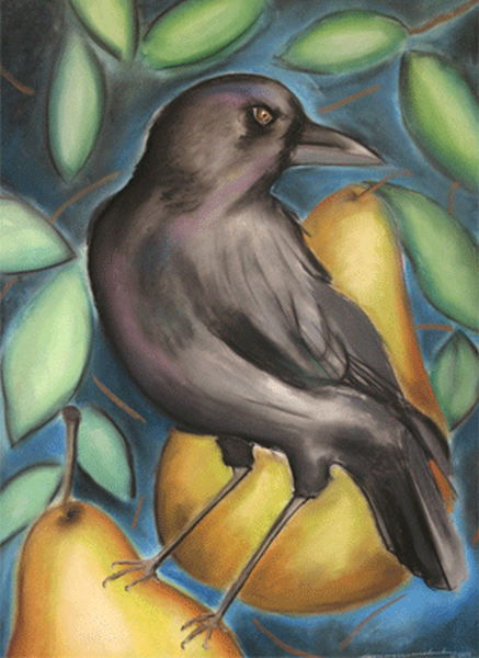 Crow in a Pear Tree