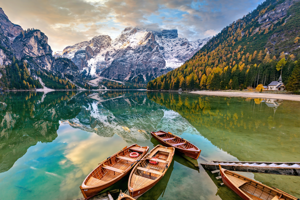 Art Print South Tyrol Dolomites Italy Lake Prags