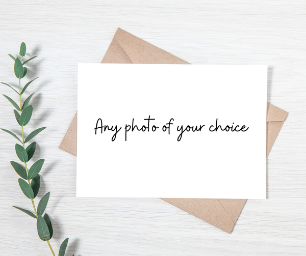 Custom printed greeting cards with beautiful landscape photography