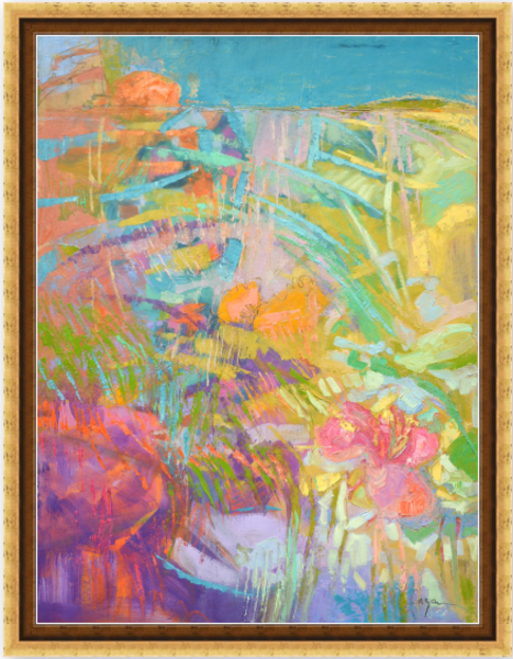 Blooming Heart Glows Wild Art | Dorothy Fagan Joy's Garden