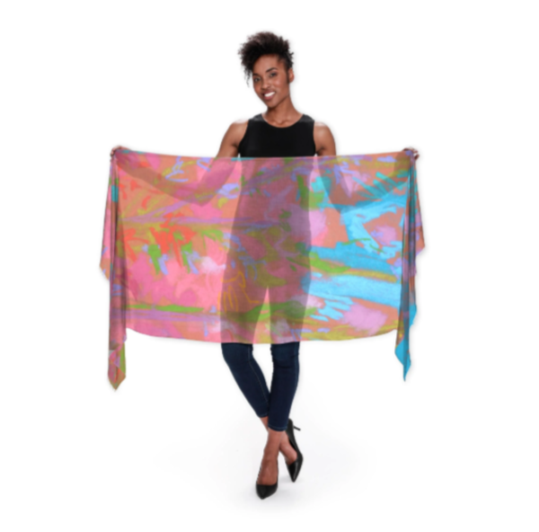 Penetrating Grace Wrap Scarf | Dorothy Fagan Joy's Garden