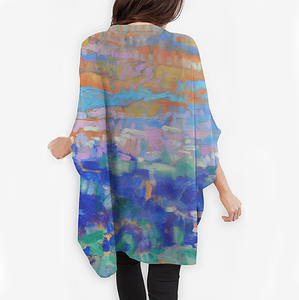 Meet Me At The Edge Of Dreams Cocoon Wrap | Dorothy Fagan Joy's Garden