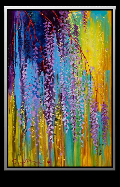 "Simon Bull Available Original Painting - ""Hanging Gardens III-III"""