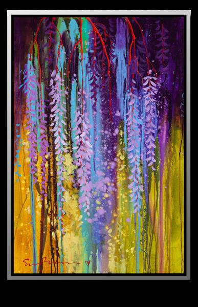 "Simon Bull Available Original Painting - ""Hanging Gardens II-III"""