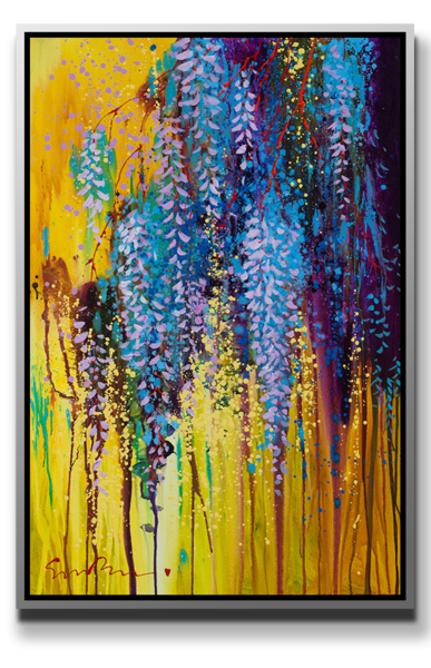 "Simon Bull Available Original Painting - ""Hanging Gardens I-III"""