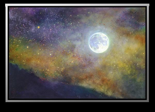 "Simon Bull Available Original Painting - ""The Night Sun"""