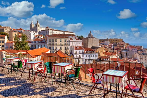 Art Print Lisbon Portugal White City