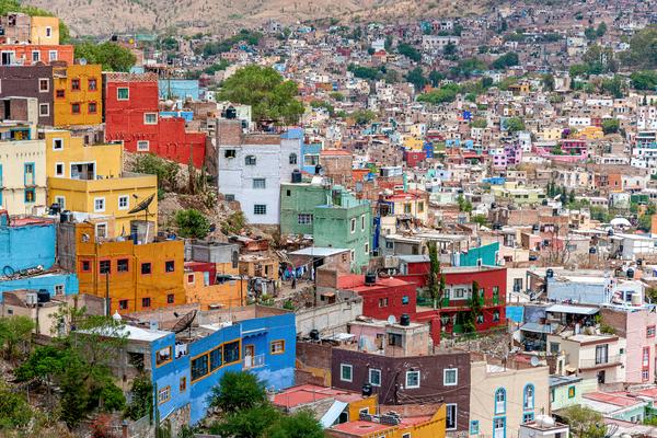 Art Print Guanajuato Mexico City Skyline Overlook