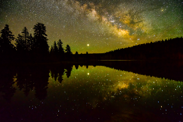Milky Way Over Duck Creek Pond Photography Art | Craig Primas Photography
