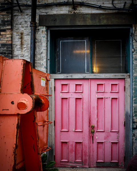 Pink Door In Milwaukee  Photography Art | Happy Hogtor Photography