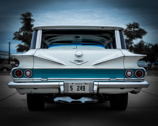 1960 Chevy Parkwood Wagon Photography Art | Happy Hogtor Photography