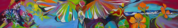 Hummingbird Mother With Spring Flowers Art | Emily Tanaka - Have to Create
