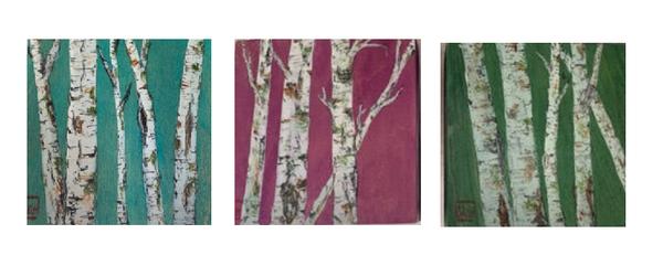 Triptych On Wood Art | donnadacuti