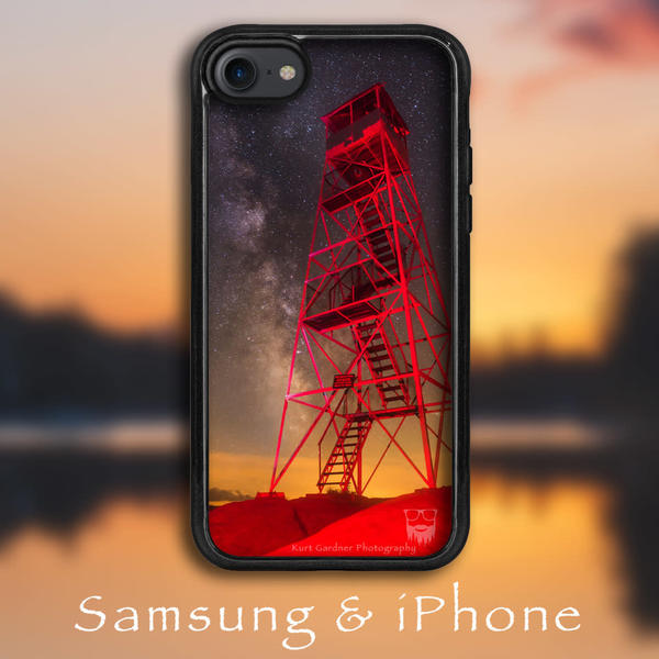 Bald Mt Red Fire Tower Phone Case | Kurt Gardner Photogarphy Gallery